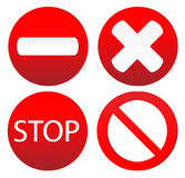 Set of variants a stop sign Stock Images
