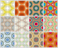 Set of varicolored abstract patterns Stock Photos