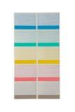 Set of varicolored empty stickers Stock Photo