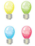 Set varicolored lamps Royalty Free Stock Images
