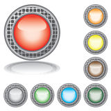 Set of the varicoloured buttons. Royalty Free Stock Images
