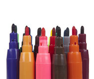 Set  from varicoloured markers Stock Image