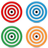 Set of varicoloured targets Royalty Free Stock Image