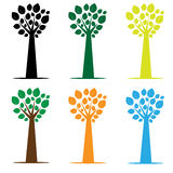 Set of varicoloured trees of trees Royalty Free Stock Photography