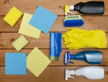 Set of variety cleaning supplies Stock Image
