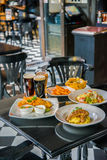 Set of variety foods on the restaurant table Stock Images