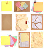 Set of variety papers Royalty Free Stock Images