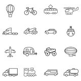 Set variety of transport lines on a white background Stock Image
