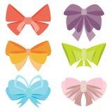 Set of various abstract bows and ribbons. Royalty Free Stock Image