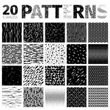 Set of 20 Various Abstract Patterns Stock Photos