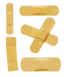 Set of various adhesive bandage Stock Images