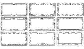 Set of Geometrical Ornamental Frames Stock Photography