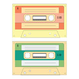 Set of various audio cassette tapes Stock Images