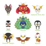 Set of various avian animals. Set of various avian animal species royalty free illustration