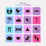 Set of various baby icons Stock Photos