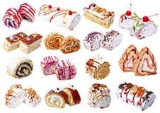 Set various baking isolated on white background.  Royalty Free Stock Photography