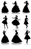 Set of various beautiful model girls in dress. Vector illustration set of various beautiful model girls in dress.Lady girls Royalty Free Stock Image