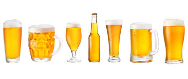 Set of various beer Stock Photography