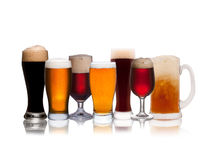 Set of various beer Royalty Free Stock Photos