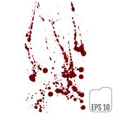 Set of various blood or paint splatters,Vector Set of different Stock Images