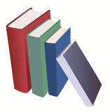 Set of various books - vector Royalty Free Stock Photography