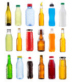 Set of various bottles Royalty Free Stock Image