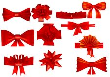 Set of various bows vector illustration