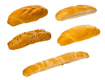 Set of various breads and pastry products Royalty Free Stock Images