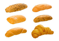 Set of various breads and pastry products Royalty Free Stock Image