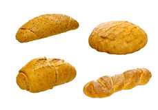 Set of various breads and pastry products Stock Images