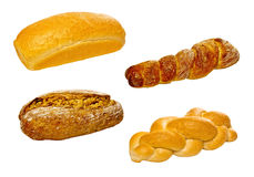 Set of various breads and pastry products Stock Image