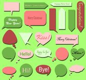 The set of various bubbles for text - round, square, triangular - for your messages Royalty Free Stock Photo