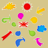 Set of various bubbles. Royalty Free Stock Photo