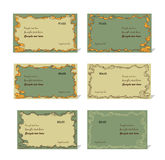 Set various business card Royalty Free Stock Images