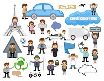 Set of Various Business Cartoon Concepts Stock Image