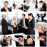 Set of various business images Royalty Free Stock Photo