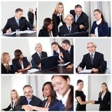 Set of various business images stock images