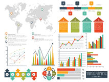 Set of various Business Infographic elements. Royalty Free Stock Photo