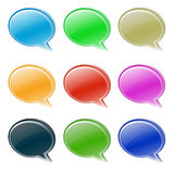 Set of various buttons/bubbles Royalty Free Stock Photo