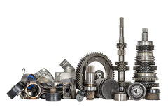 Set of various car parts Royalty Free Stock Images