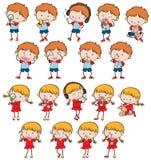Set of various children stock illustration
