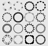 Set of various circles Stock Photos