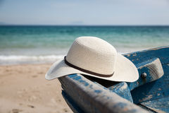 Set of various clothes and accessories for women on the beach Stock Image