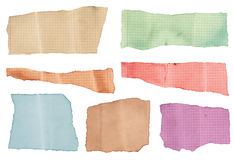 Set of various colorful torned note papers Royalty Free Stock Images