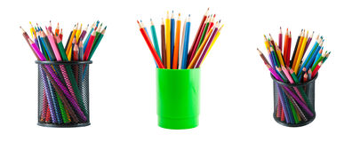 Various colour pencils Stock Photos