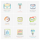 Set of various company logos, business icons Stock Images