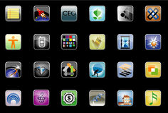 Set of various computer icons Stock Image