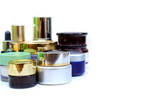 Set of various cosmetics for skin care Stock Photos