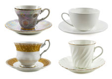 Set with various cups Stock Photos