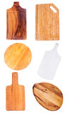 Set of various cutting board Royalty Free Stock Photography